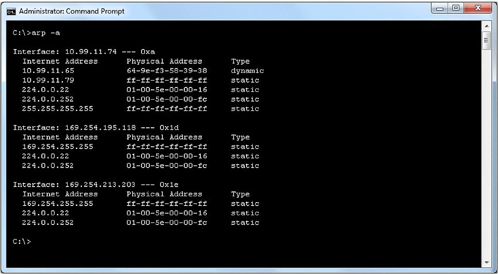 Exploration des paquets IP – cache ARP – Dépannage