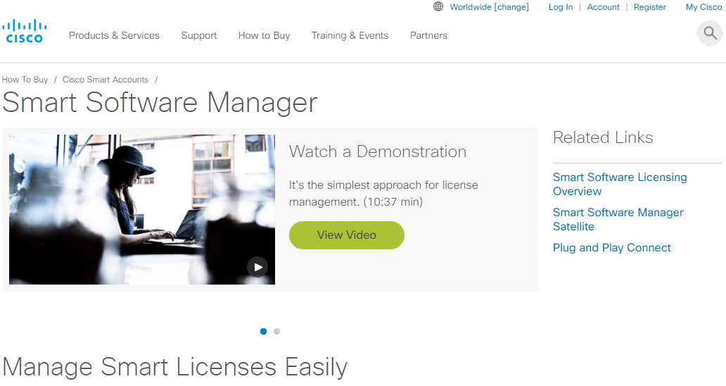 License Cisco : Cisco Smart Software Manager