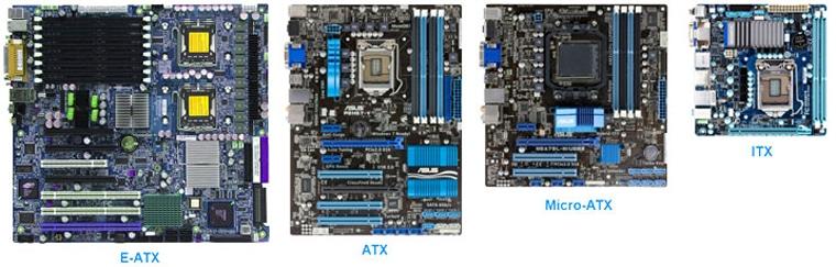 guide d'achat carte mère formats E-ATX ATX micro ATX mini ITX