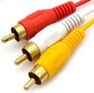 Connectique informatique Câble hdmi vers rca, hdmi mâle vers 3rca av composite mâle m/m connecteur câble adaptateur cordon émetteur (pas de fonction de conversion de signal), transmission à partir de hdmi vers rca – 1,5 m/1.5 m noir Cabling